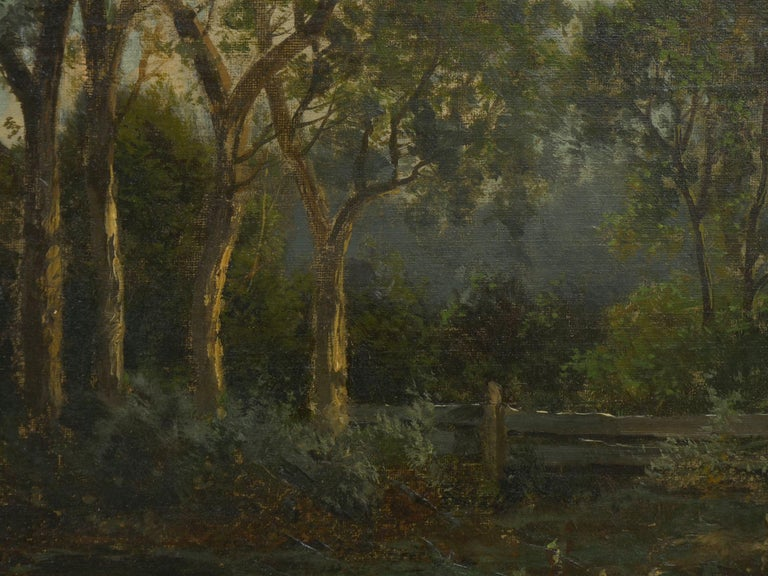 """""""Bamberg Bavaria"""" '1880' Antique Landscape Painting by Carl Weber 'American)' For Sale 7"""