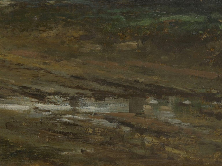"""""""Bamberg Bavaria"""" '1880' Antique Landscape Painting by Carl Weber 'American)' For Sale 9"""