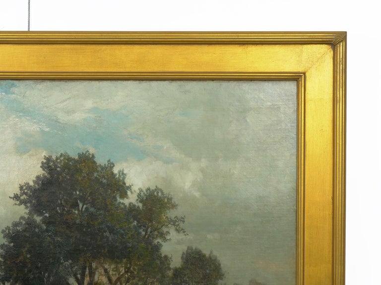 """""""Bamberg Bavaria"""" '1880' Antique Landscape Painting by Carl Weber 'American)' For Sale 10"""