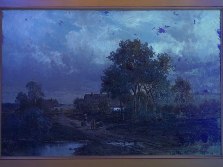 """""""Bamberg Bavaria"""" '1880' Antique Landscape Painting by Carl Weber 'American)' For Sale 13"""