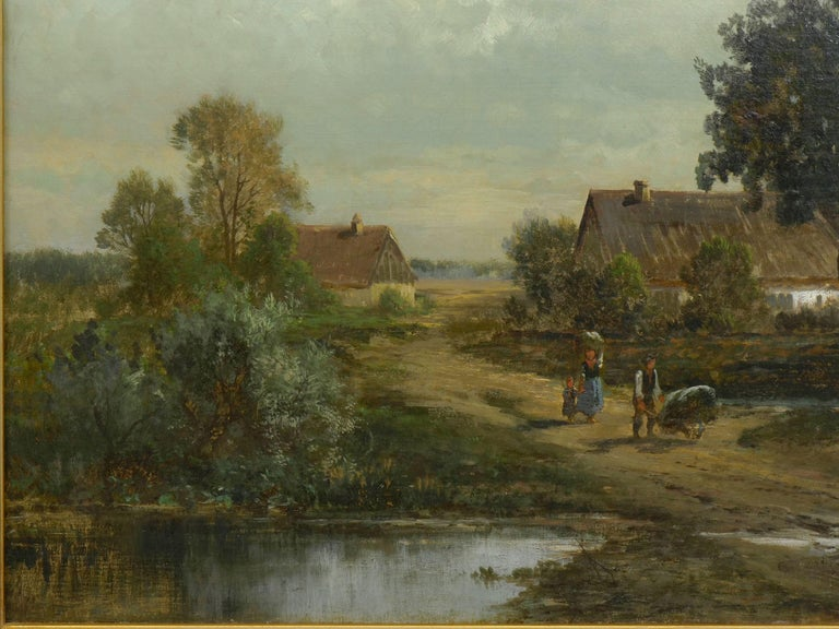 """""""Bamberg Bavaria"""" '1880' Antique Landscape Painting by Carl Weber 'American)' In Good Condition For Sale In Shippensburg, PA"""