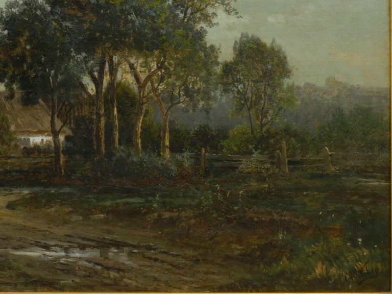 """19th Century """"Bamberg Bavaria"""" '1880' Antique Landscape Painting by Carl Weber 'American)' For Sale"""