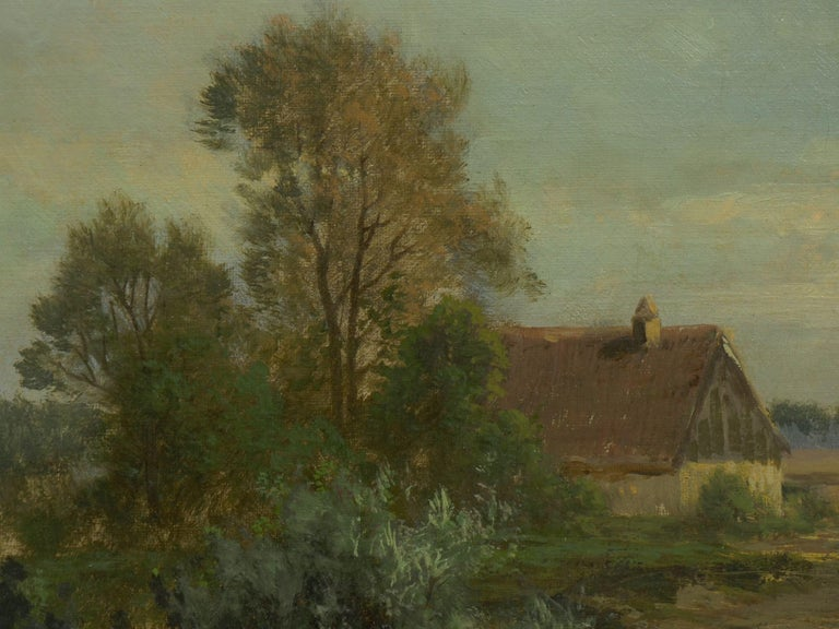 """""""Bamberg Bavaria"""" '1880' Antique Landscape Painting by Carl Weber 'American)' For Sale 2"""