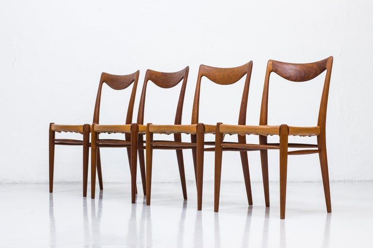 Set of four dining chairs, model