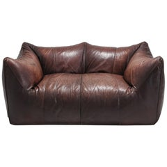 Bambole First Edition by Mario Bellini in Brown Leather