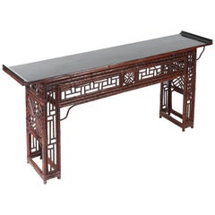 Bamboo Altar Table with Everted Ends