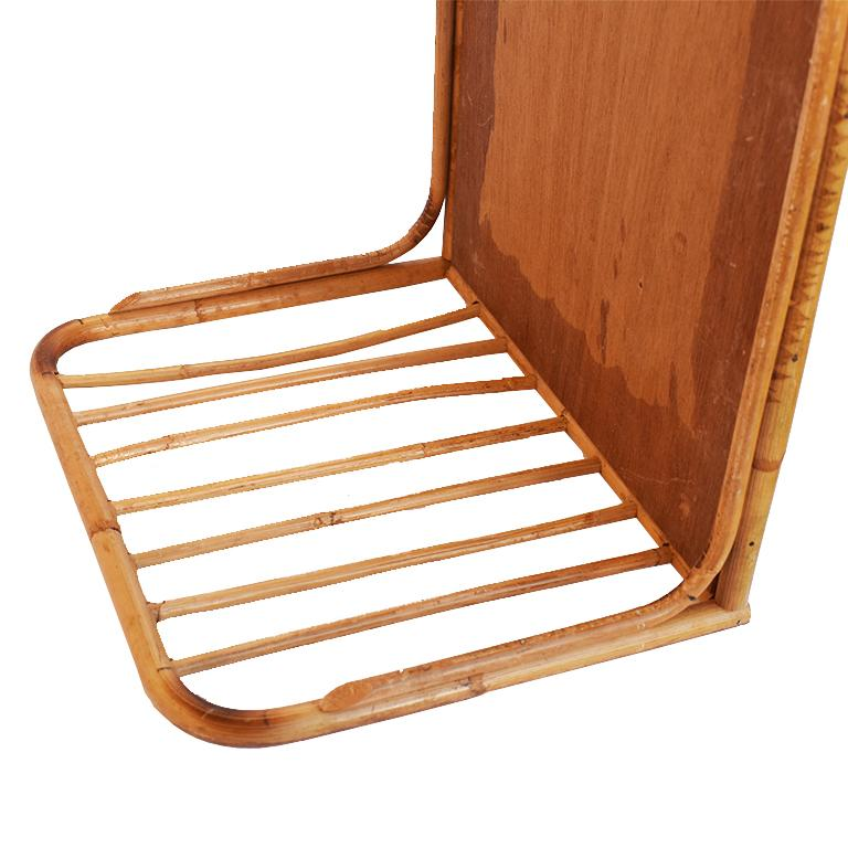 Bamboo and Cane Bentwood Breakfast in Bed Tray with Newspaper Rack, 1930s For Sale 1