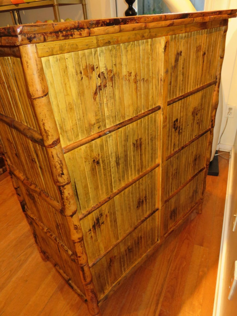 Hand-Crafted Bamboo and Cane  British Colonial Style Dresser or Drawers For Sale
