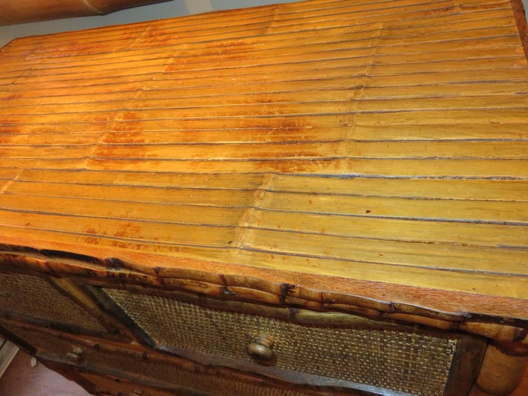 Bamboo and Cane  British Colonial Style Dresser or Drawers For Sale 2