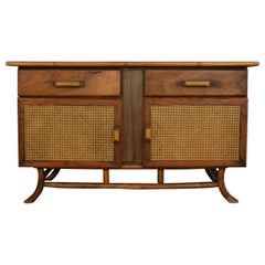 Bamboo and Cane Sideboard