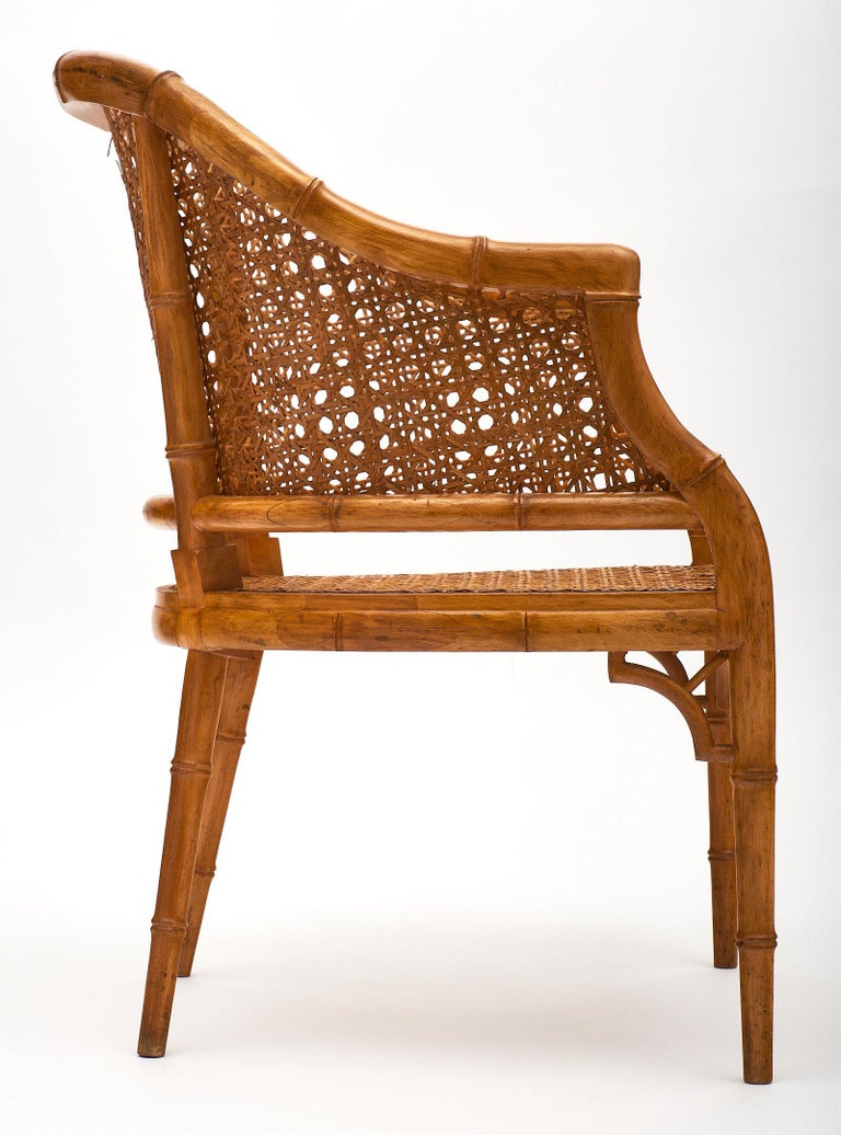 Bamboo and Cane Vintage French Armchairs at 1stdibs