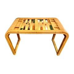 Bamboo and Cork Backgammon Table