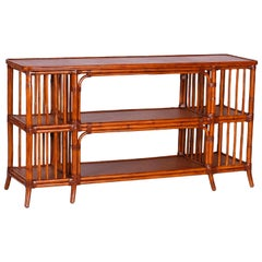 Bamboo and Grasscloth Console or Server