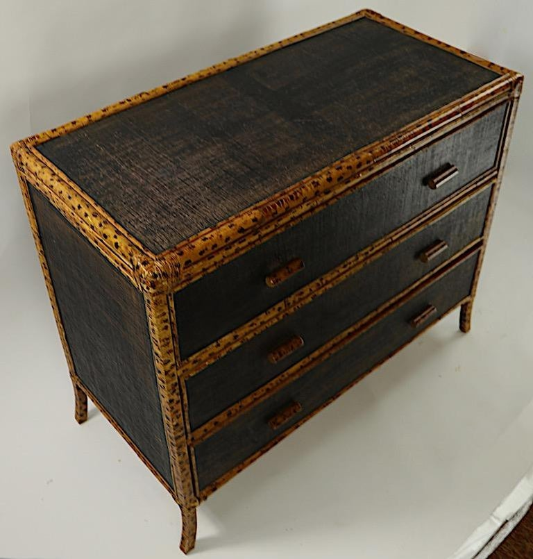 Bamboo and Grasscloth Dresser by Maitland Smith 4