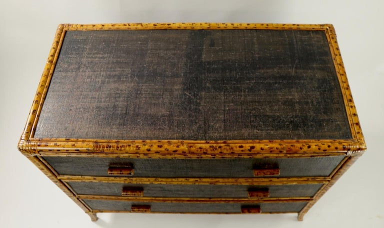 Philippine Bamboo and Grasscloth Dresser by Maitland Smith