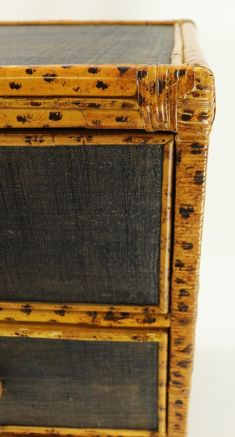 Bamboo and Grasscloth Dresser by Maitland Smith 2