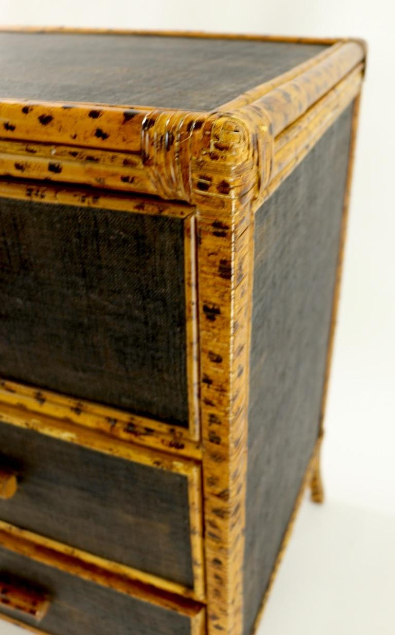 Bamboo and Grasscloth Dresser by Maitland Smith 3