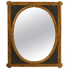 Bamboo and Grasscloth Mirror by Maitland Smith