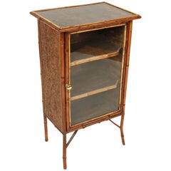 Bamboo and Lacquer Bookcase or Cabinet