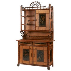 Bamboo and Lacquer Cabinet, Perret & Vibert, End of the 19th Century