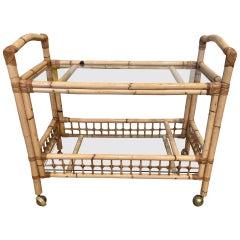 Bamboo and Rattan Bar Cart