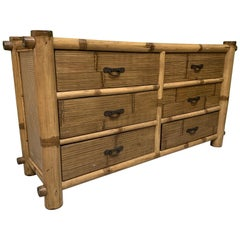 Bamboo and Rattan Double Dresser
