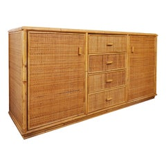 Bamboo And Rattan Sideboard