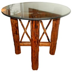 Bamboo  English and Tortoiseshell Finish Center Table/Dinning