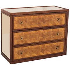 Bamboo and Walnut Drawer Chest Vivai del Sud