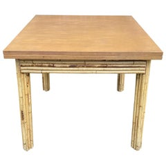 Bamboo and Wood Game or Dining Table