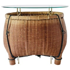 Bamboo Basket Table Ryosuke Harashima Contemporary Zen Japanese Mingei
