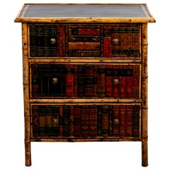 Bamboo Book Front Chest of Drawers