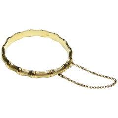 Bamboo Bracelet 9 Carat Yellow Gold, British Made