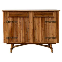 Bamboo Cabinet Attributed to Audoux Minet