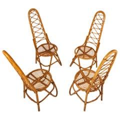 Bamboo Chairs by Dirk Van Sliedrecht for Rohe Noordwolde, 1950