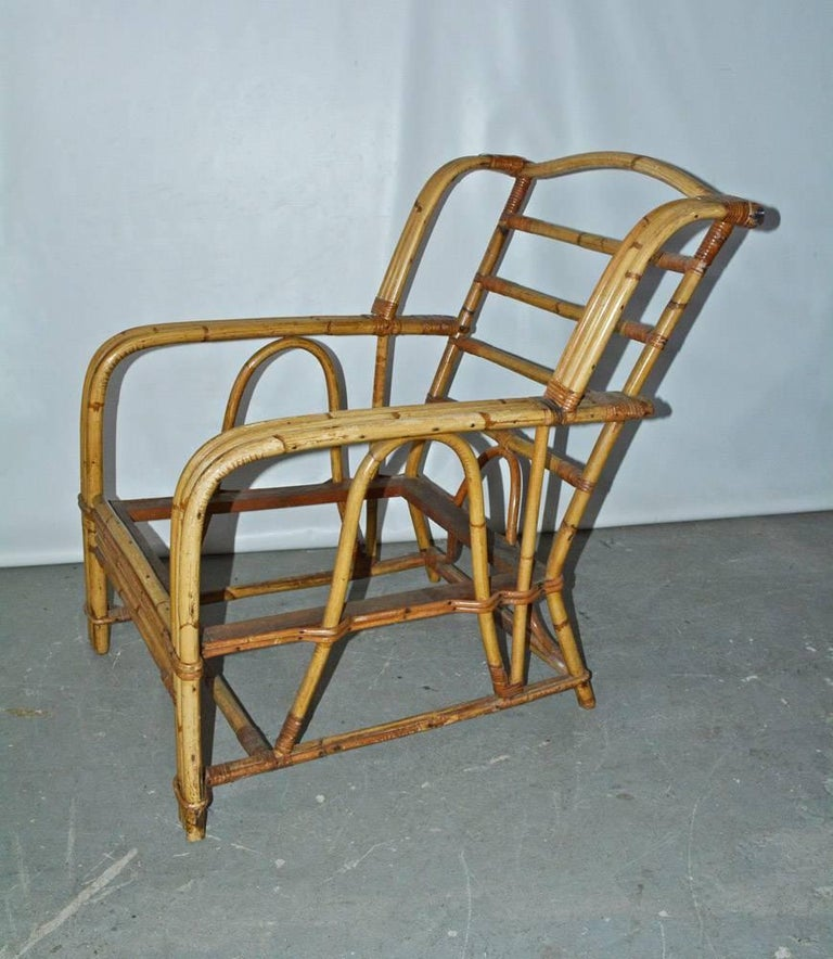 Adirondack Bamboo Club Chair For Sale