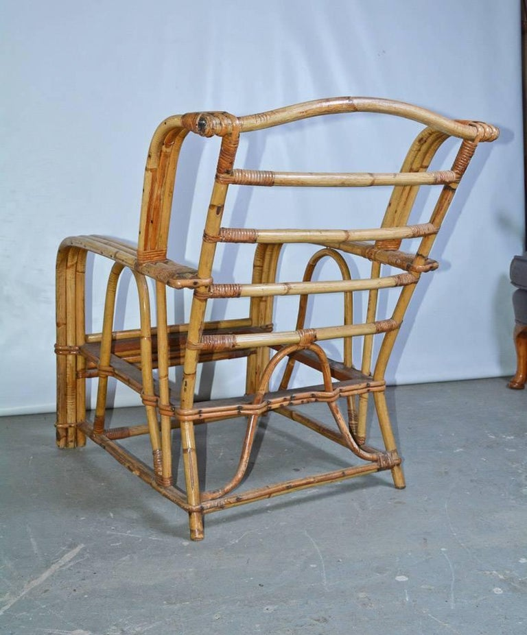 American Bamboo Club Chair For Sale