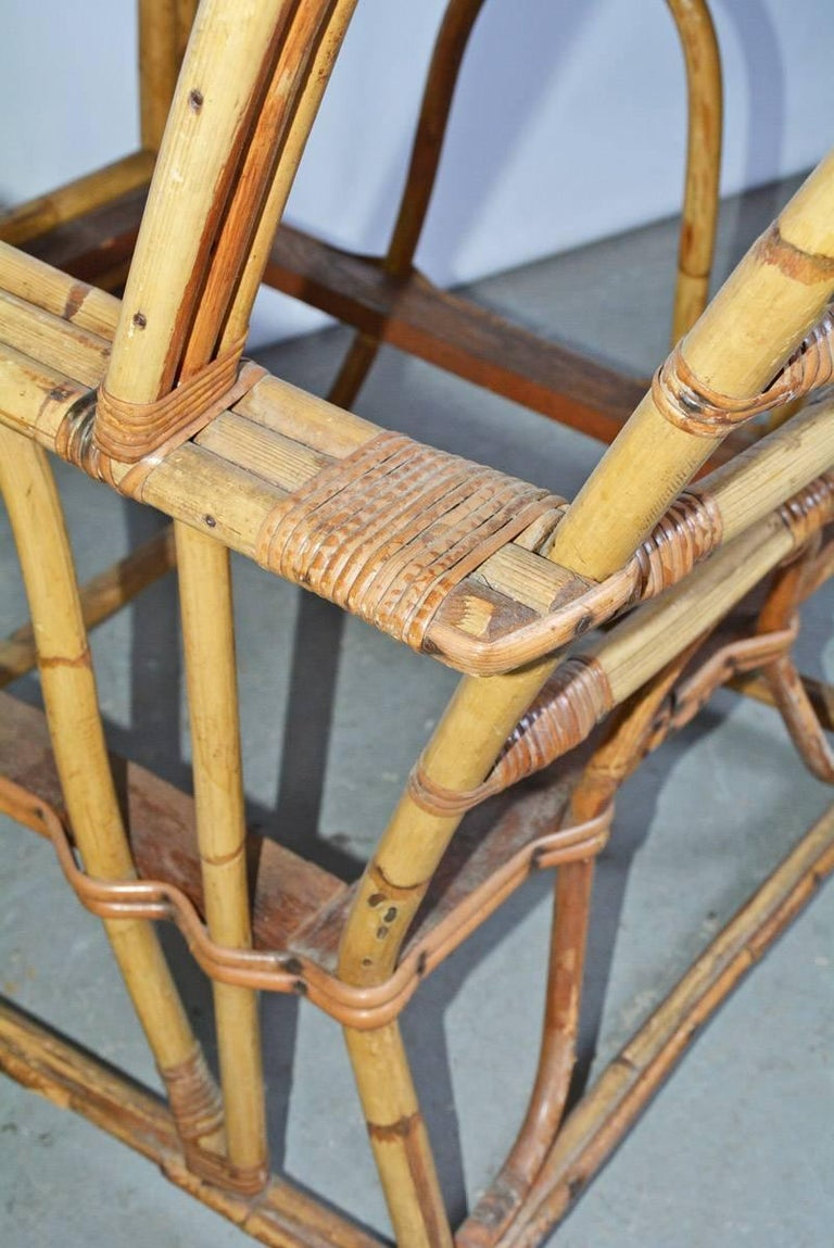 Bamboo Club Chair In Good Condition For Sale In Great Barrington, MA