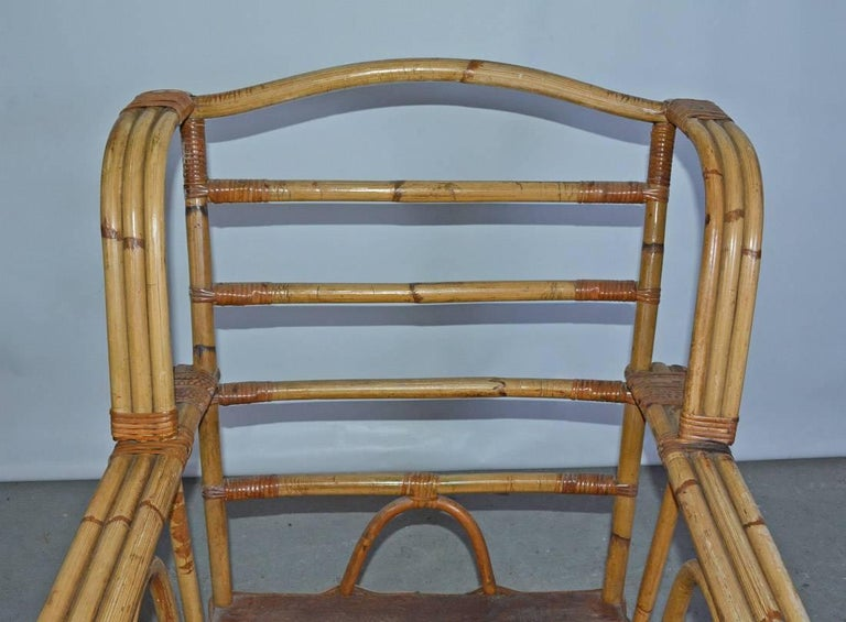20th Century Bamboo Club Chair For Sale