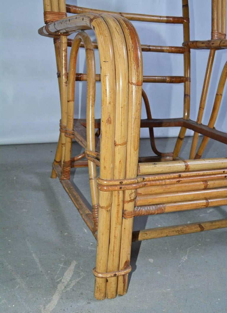 Bamboo Club Chair For Sale 1