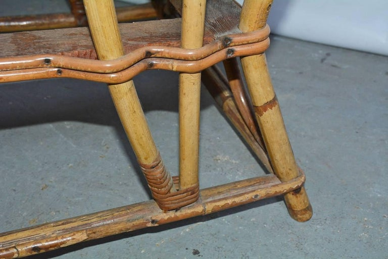 Bamboo Club Chair For Sale 3