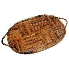 Bamboo Cocktail Tray, circa 1950