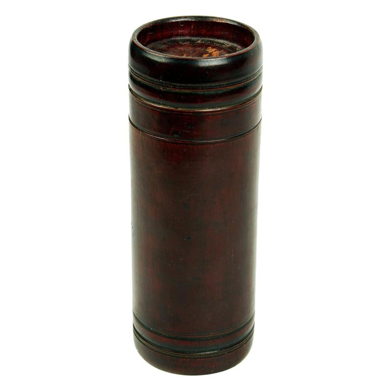 Bamboo Cylinder Container from Japan, Late 19th Century For Sale