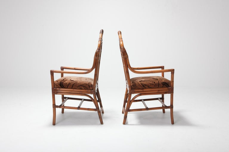 Bamboo Dining Chairs from 1970s, Italy For Sale 4