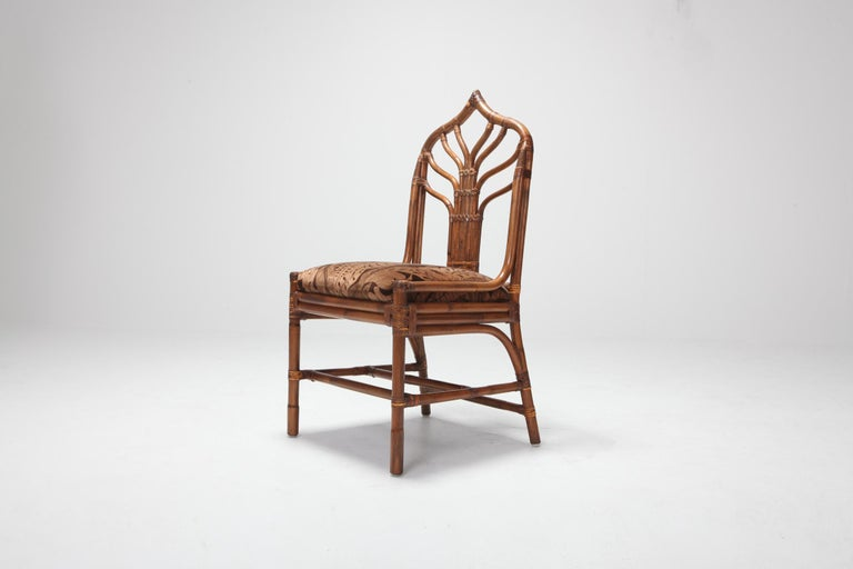 Bamboo Dining Chairs from 1970s, Italy For Sale 10