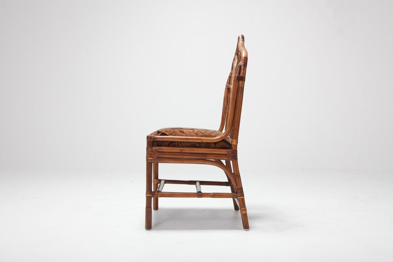 Bamboo Dining Chairs from 1970s, Italy For Sale 11