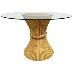 Bamboo Dining Table by McGuire, 1980s