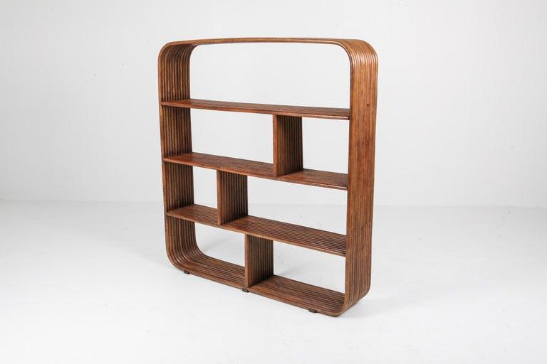 Post-Modern Bamboo étagère room divider Henry Olko