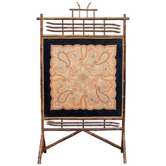 Bamboo Fire Screen Anglo Japanese Aesthetic, 19th Century