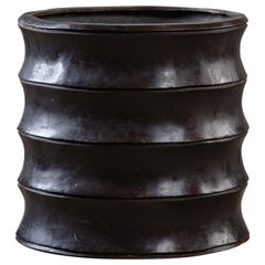 Bamboo Form Bronze Planter